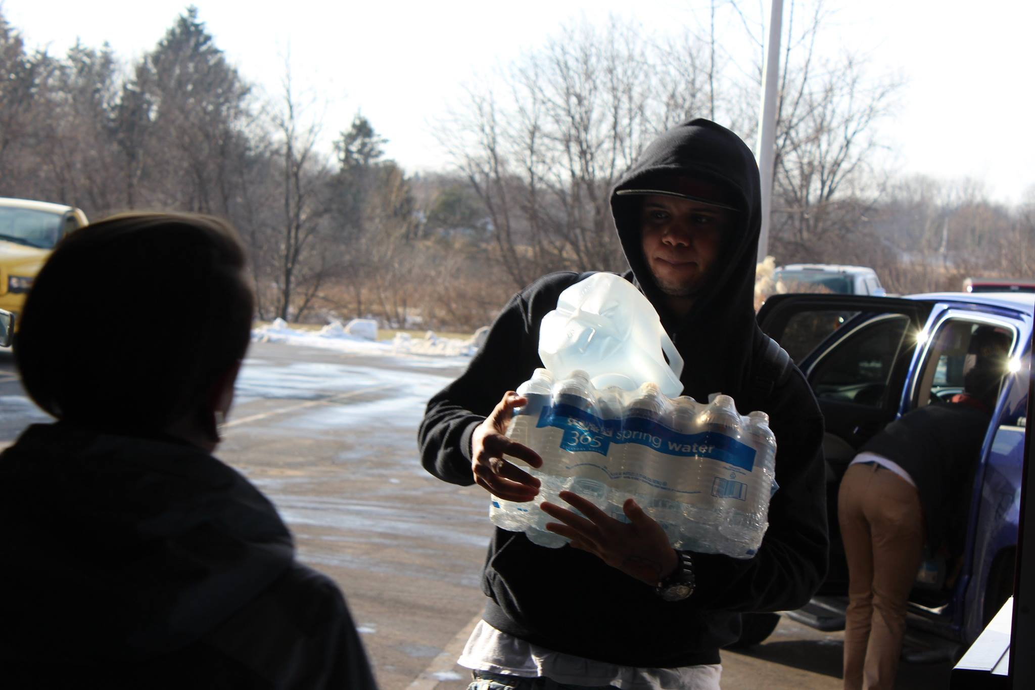 Helping in Flint water crisis